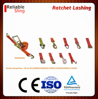 polyester belt strapping with metal ratchet 25-100mm standard length