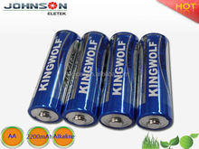 2016 hot sale powerful bulk package 1.5v alkaline battery aa/lr6/am3