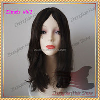 Unprocessed Multidirectional Skin Top Wave Wig Mongolian Human Hair 3/4 wig human hair jewish