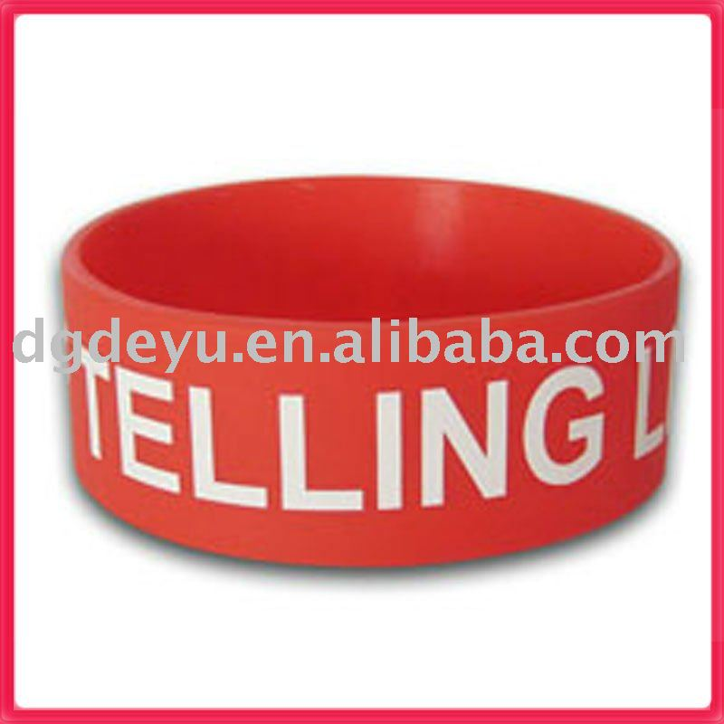 1 inch silicone wristbands