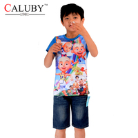 Caluby zhongshan company sales onsite fashion short tee baby boy tees