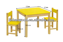 Pine Wood Children Tables/Studying Desins Wood Children Tables/Wooden Children Tables with 2 Chairs