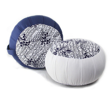 yoga meditation round cushion with Buck wheat filling high quality with shape pattern