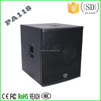 2016 Hot sale Pro audio sound system subwoofer speakers PA118
