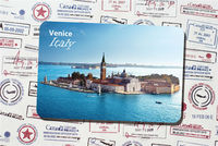 Custom name card style photo high quality travel souvenirs Venice Italy fridge magnets