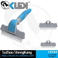 Pet Replaceable Heads Deshedding Grooming Tool with Three Heads CQT