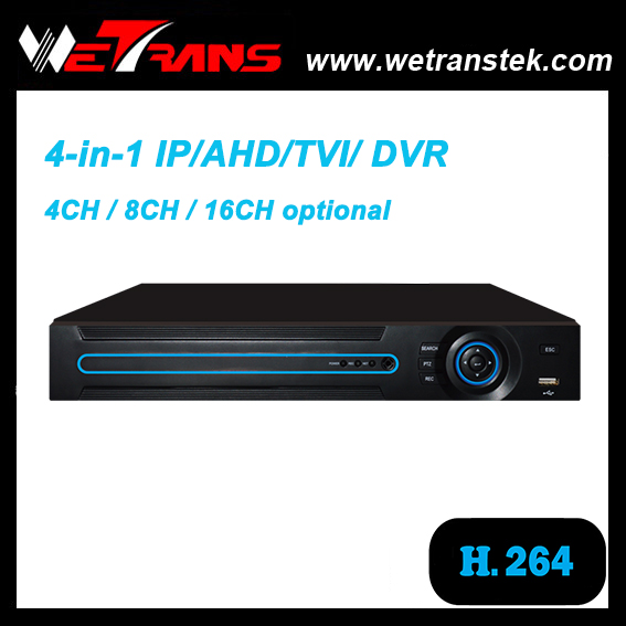 XVR2216S 4 in 1 Hybird DVR for IP/AHD/TVI/ analog camera 16 channel dvr