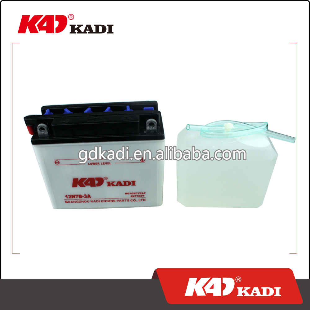 KADI battery motorcycle battery motorcycle acid battery 12N7B-3A