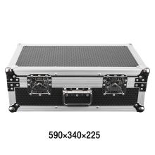 High quantity aluminum flight case with foam with wheels equipment toolbox