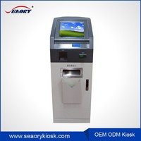 touch screen monitor kiosk terminal machine with medical report printing