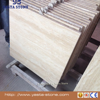 Yellow Cream Beige Travertine Tile Marble Floor Tile Price