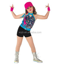 New cheer kid dance wear/skirt-sexy Jazz and tap girl's school baseball suits-children carnival costumes