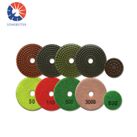 7 Inch Diamond Polishing Pad ANY GRIT Granite Engineered Stone Concrete Wet/Dry