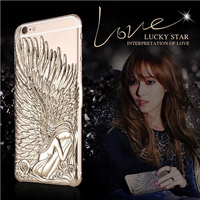 Luxury Cell Phone Back Angel Wings Lovecrazy Smartphone Cover Case For iPhone 6