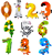 alphabet balloon letter shaped game foil balloon number balloon color assorted