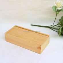 New products office supplies rectangle wooden magnetic pencil box with lid accept printing logo