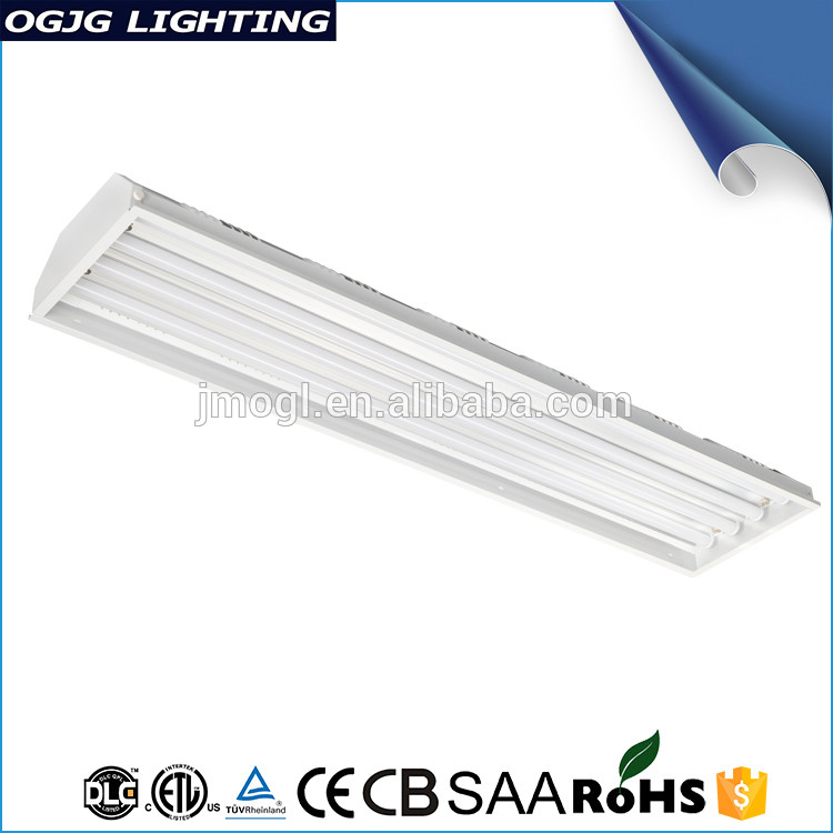 Warehouse Supermarket Pendant Tube Fittings Light Dimmable Led High Bay Linear Fixture Industrial Lighting