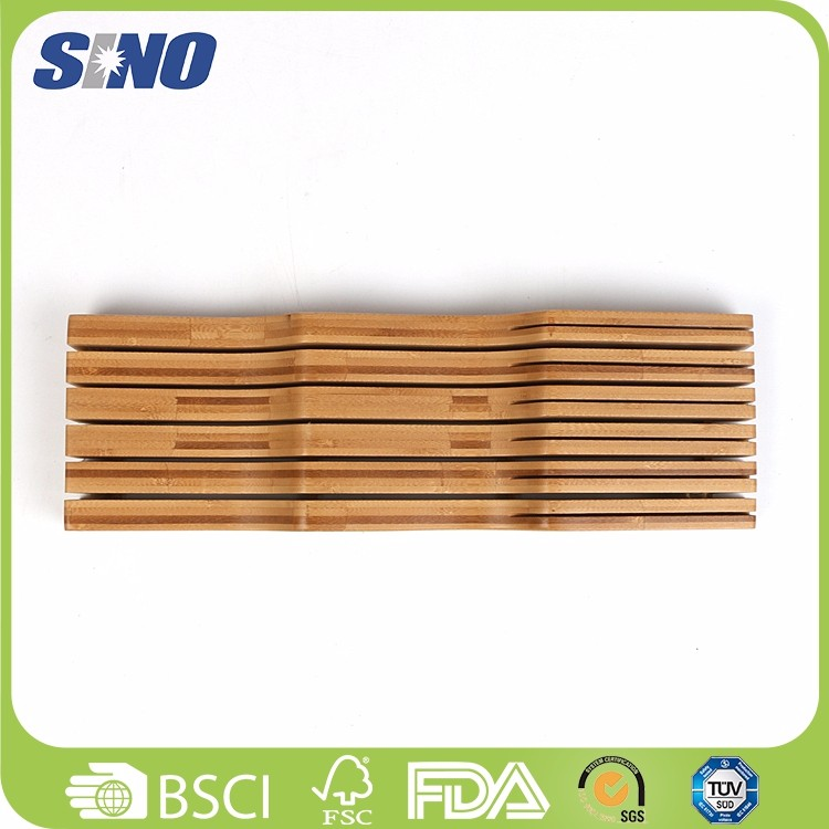 Healthy Bamboo Drawer Knife Holder