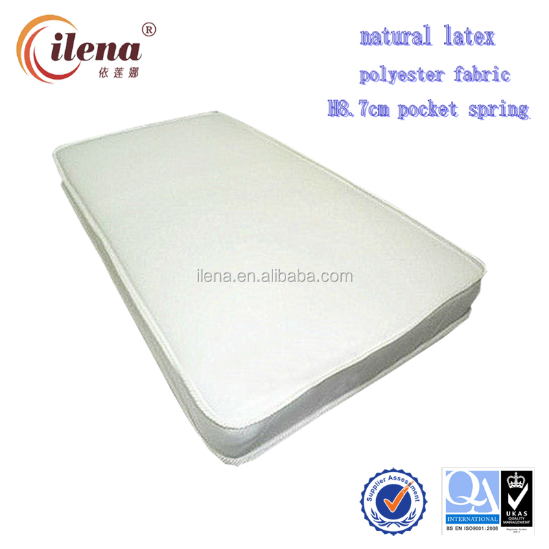 Good price home reliance 100% natural latex baby pocket spring mattress