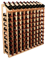 customized 100 bottles commercial used pine timber wood floor standing tall wine cabinets wine shelf
