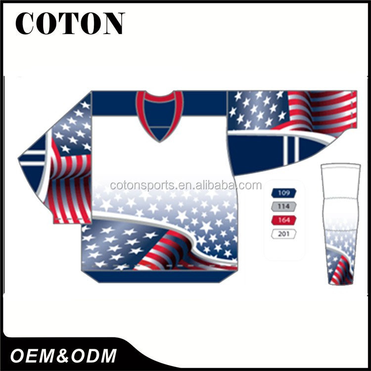 Alibaba Top Manufacturer wholesale custom men's blank ice hockey jerseys With Long-term Service