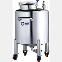 stainless steel top open ethanol storage tank