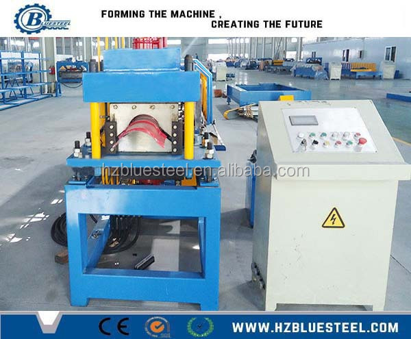 Galvanized Roof Ridge Roofing Sheet Machine / Metal Roofing Cap Gutter Roll Forming Machine
