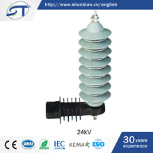 SHUNTE China Best Price Various Type 24KV Lightning Protection Device Surge Arrestors