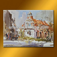 Top class museum quality canvas painting modern art for cafe decor