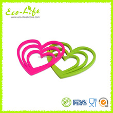 food grade Heart Shape Silicone Trivet, Coaster Pad, Kitchen Silicone Heat-Resistant Mats