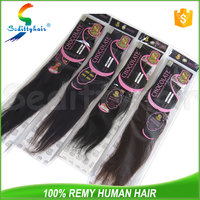 "Factory price 8"" to 20"" kinky no chemical hair CL brand straight 100%human hair weave"