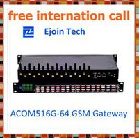 HOT SALE !!!free calls 16 ports 64 card gsm voip gateway sip proxy server