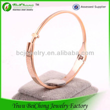 Bulk buy from china stainless steel chain to make jewelry rose gold bangle/bracelet crosses for to make bracelets