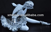 metal art deco ballerina sculpture, dancing ballet figurine