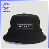 Fashion plain black nylon bucket hat wholesale
