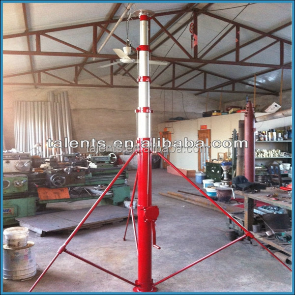 18m (60ft) hand cranked telescopic masts and mobile antenna telescopic mast