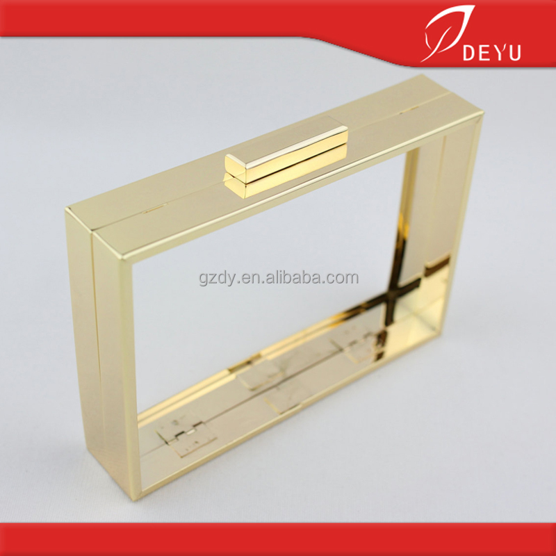 7*5inch Fashion clutch purse frame, metal box clutch bag frame cover(Any size can make)