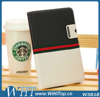 Dual Colored Case Wallet Leather Flip Stand Cover For iPad Mini Case With Korean Style Look