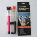 2014 wholesale monopod self-portrait camera Z07-5 Kjstar selfie stick with bluetooth