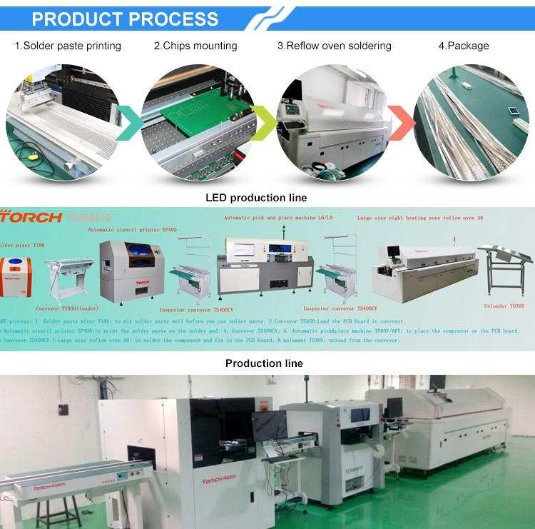 Torch T1000 stencil screen printing machine for smd led