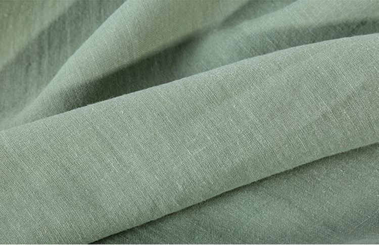 Stock lots 80% cotton 20% natural flax linen fabric  cotton linen fabric