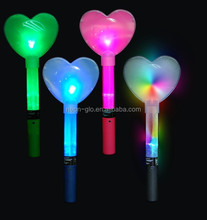 Multicolor light up flashing heart wand