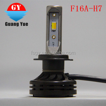 F16A-H7 Newest Dual/three color with fan small size LED headlight Import CSP chip