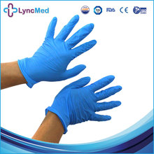 Cheap powder free disposable nitrile coated exam latex free gloves