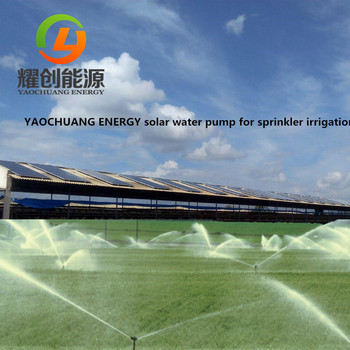 380V three phase Diesel Fuel replacement solar power water pump for agriculture irrigation