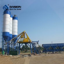 HZS50 stationary elba concrete batching plant price