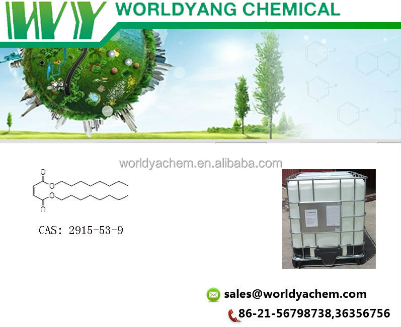 Worldyang Dioctyl maleate; 2-Butenedioic acid dioctyl ester;cas no 2915-53-9;clear, colorless oily liquid