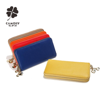 leather factory wholesale leather woman purse ladies zipper leather wallet