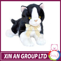 Nice Cat black and white cat animal soft plush toy
