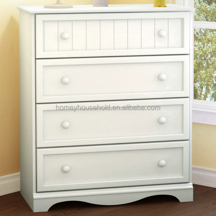Kids bedroom furniture 4 drawer dresser children channing clothes cabinet
